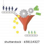 conversion rate optimization.... | Shutterstock .eps vector #658114327