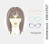 vector set beautiful women... | Shutterstock .eps vector #658115527
