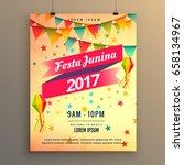 festa junina party celebration... | Shutterstock .eps vector #658134967
