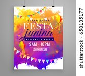 festa junina party celebration... | Shutterstock .eps vector #658135177