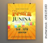 festa junina carnival flyer... | Shutterstock .eps vector #658135183