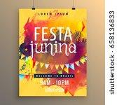 invitation template for festa...   Shutterstock .eps vector #658136833