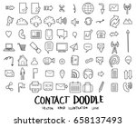 contact doodle icon line vector ... | Shutterstock .eps vector #658137493