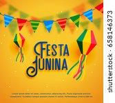festa junina holiday background ... | Shutterstock .eps vector #658146373