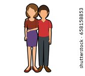 avatar couple icon | Shutterstock .eps vector #658158853