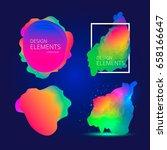 vibrant gradient design... | Shutterstock .eps vector #658166647