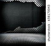cracked 3d metal mesh background   Shutterstock . vector #658170043