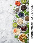 healthy fitness food from fresh ... | Shutterstock . vector #658170937