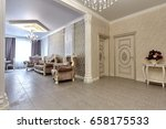 living room with a beautiful... | Shutterstock . vector #658175533