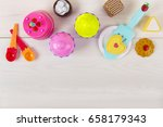 toy cakes and cookies | Shutterstock . vector #658179343