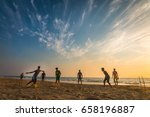 a group of friends playing... | Shutterstock . vector #658196887