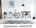 modern black and white room... | Shutterstock . vector #658211707