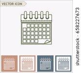 line icon  the calendar | Shutterstock .eps vector #658227673