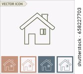 line icon  house. | Shutterstock .eps vector #658227703