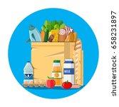 paper shopping bag full of...   Shutterstock .eps vector #658231897