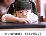 asian children cute or kid girl ... | Shutterstock . vector #658245133