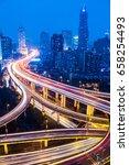 shanghai highway at night china | Shutterstock . vector #658254493