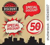 special discount or offer... | Shutterstock .eps vector #658260037