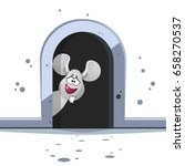 cute cartoon mouse with big... | Shutterstock .eps vector #658270537