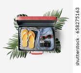 travel bag concept | Shutterstock . vector #658275163
