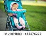 little girl sitting in a... | Shutterstock . vector #658276273