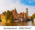 Cityscape Of Bruges  Flanders ...