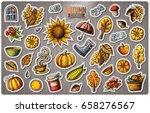 set of autumn season cartoon... | Shutterstock .eps vector #658276567