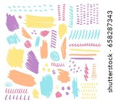 set of color brush pint and... | Shutterstock .eps vector #658287343