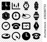 dial icons set. set of 16 dial... | Shutterstock .eps vector #658288753