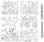 set of cute fairy tale... | Shutterstock . vector #658289347