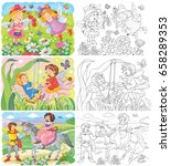 set of cute fairy tale... | Shutterstock . vector #658289353
