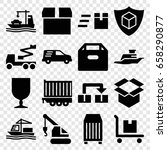 shipping icons set. set of 16... | Shutterstock .eps vector #658290877