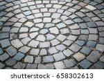 cobble stone brick road... | Shutterstock . vector #658302613