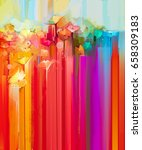 abstract oil painting spring... | Shutterstock . vector #658309183