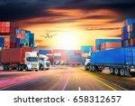 logistics import export... | Shutterstock . vector #658312657