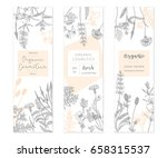 vector hand drawn floral cards... | Shutterstock .eps vector #658315537