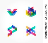 set of minimal geometric... | Shutterstock .eps vector #658323793
