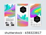 geometric trendy backgrounds on ... | Shutterstock .eps vector #658323817