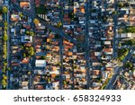 top view of suburban... | Shutterstock . vector #658324933
