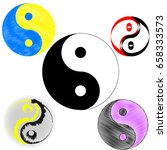 sign of chinese philosophy of... | Shutterstock .eps vector #658333573