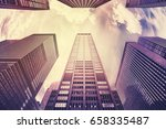 color toned photo of manhattan... | Shutterstock . vector #658335487
