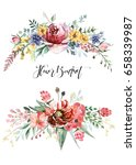 flower bouquet | Shutterstock . vector #658339987