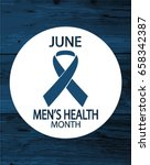 men's health month card or... | Shutterstock .eps vector #658342387