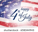 happy fourth of july   poster... | Shutterstock .eps vector #658344943