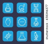 biology icon. set of 9 outline... | Shutterstock .eps vector #658346377