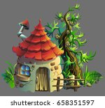 Cartoon Illustration Of  Gnome...