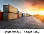 container freight train in... | Shutterstock . vector #658357357