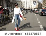 paris march 9  2015. street... | Shutterstock . vector #658370887