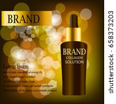 coenzyme q10. anti age cream...   Shutterstock .eps vector #658373203