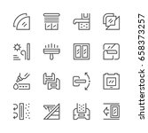 set line icons of window... | Shutterstock .eps vector #658373257